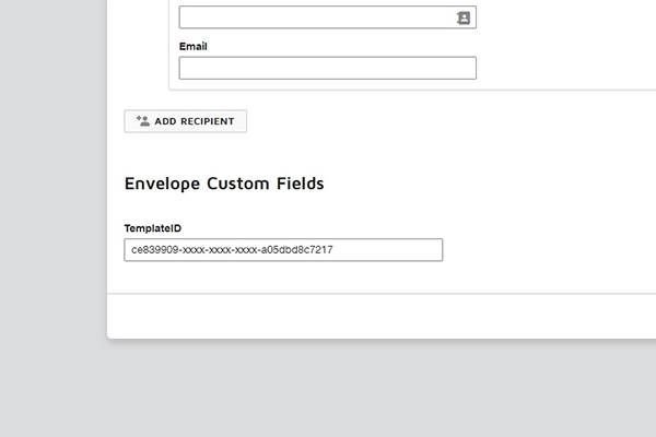 Finding the Template ID in the DocuSign UI