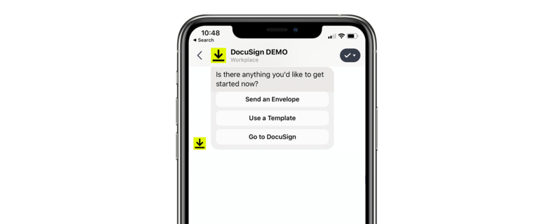 DocuSign eSignature for Workplace by Facebook