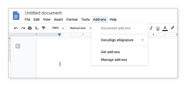Google doc Add-ons Get add-ons