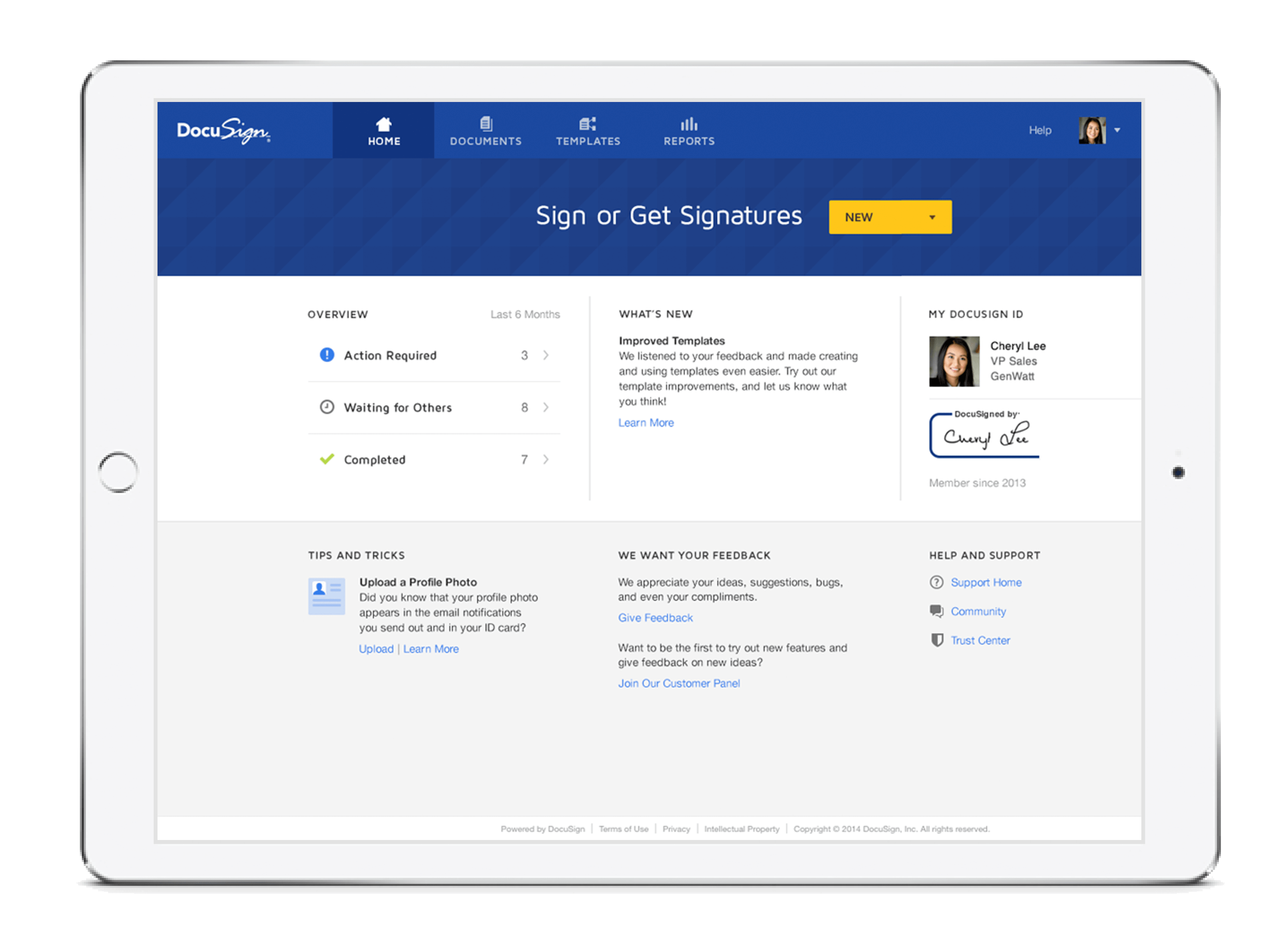 DocuSign signing experience