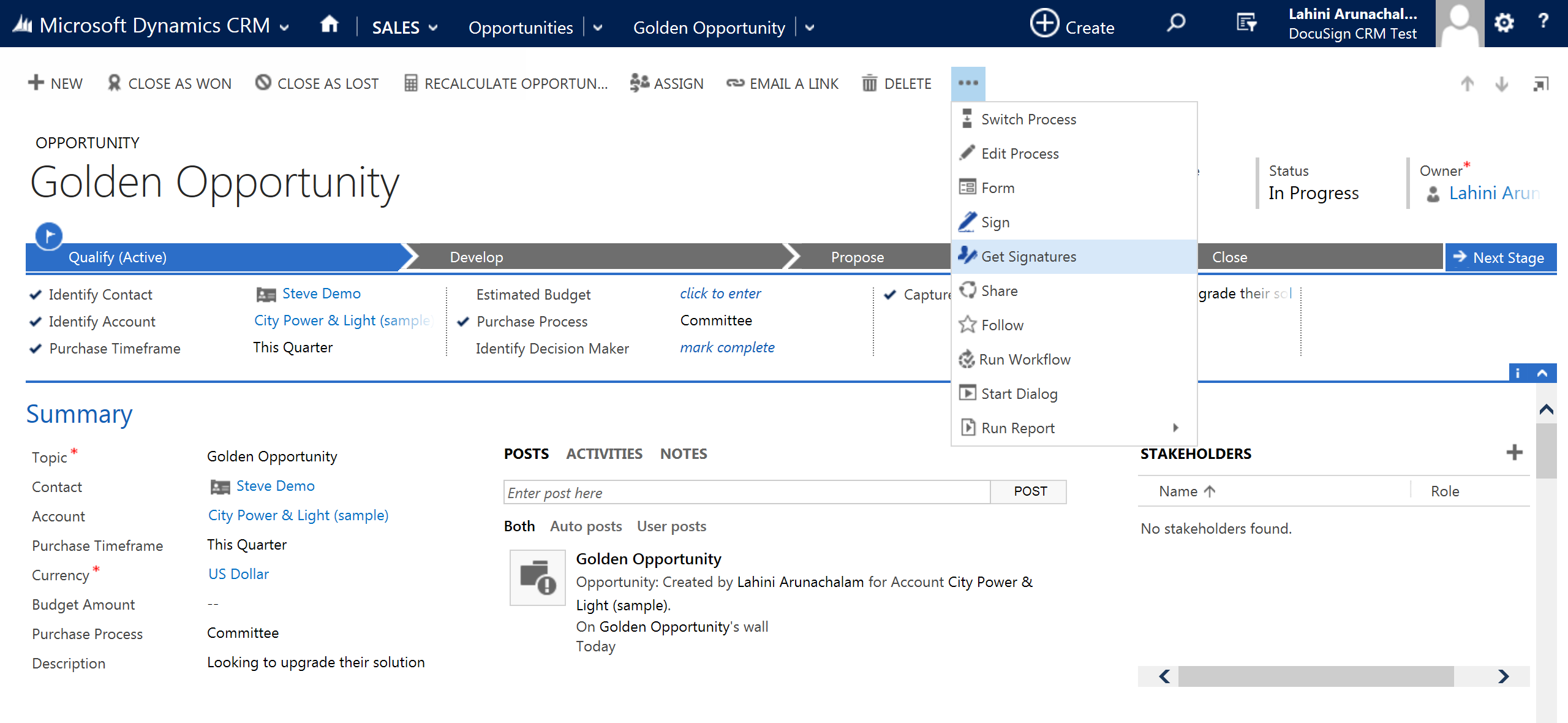 DocuSign for Dynamics 365 CRM | DocuSign