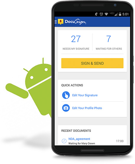 eSign & Send from Google Products | DocuSign