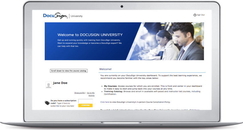 DocuSign University Learning Portal