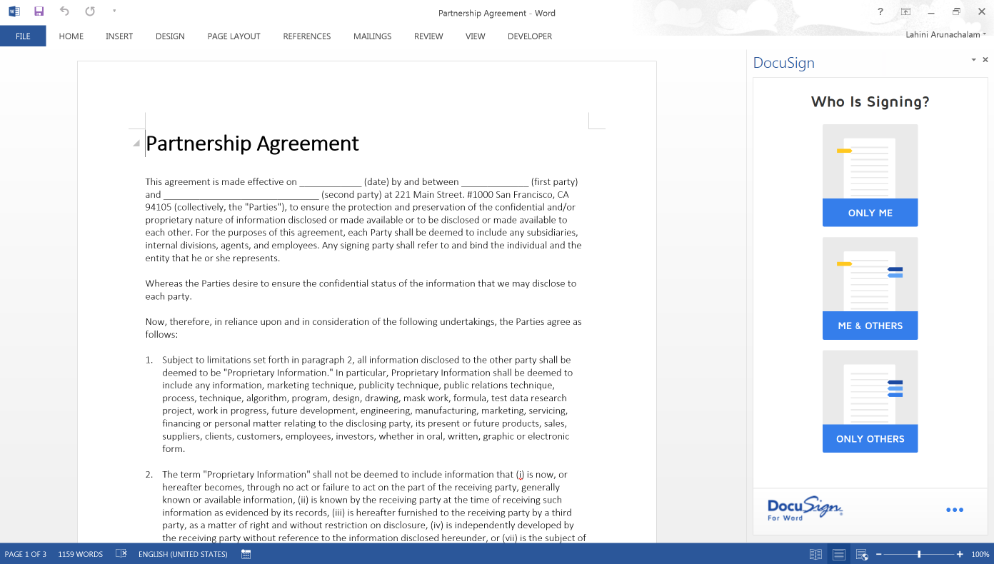 for word docusign access on the go anytime anywhere