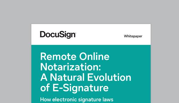 Remote online notarization as the next step of eSignature whitepaper.