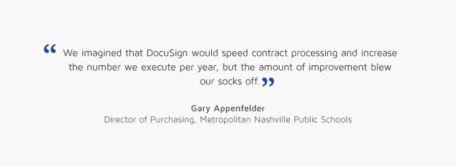 Gary Appenfelder, Director of Purchasing, Metropolitan Nashville Public Schools quote