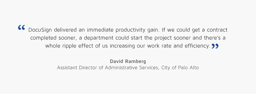 David Ramberg, Assistant Director of Administrative Services, City of Palo Alto quote