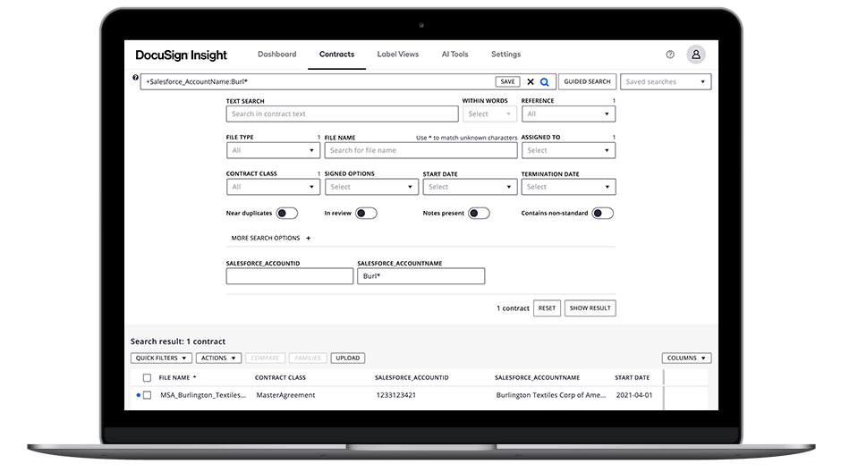 Streamline access to contracts, files and key metadata with DocuSign Insight Connector for Salesforce.
