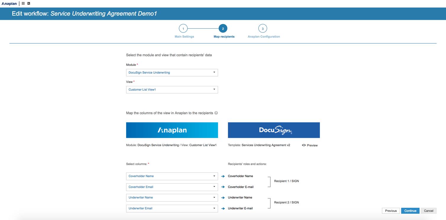 Anaplan DocuSign Integration   DocuSign on