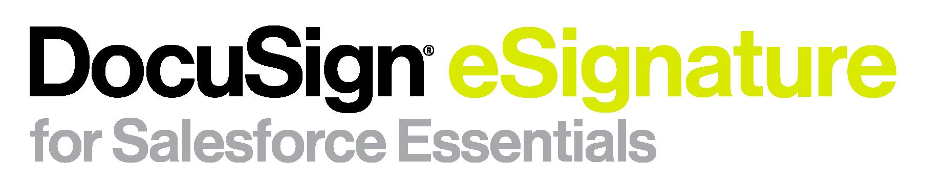 DocuSign eSignature for Salesforce Essentials