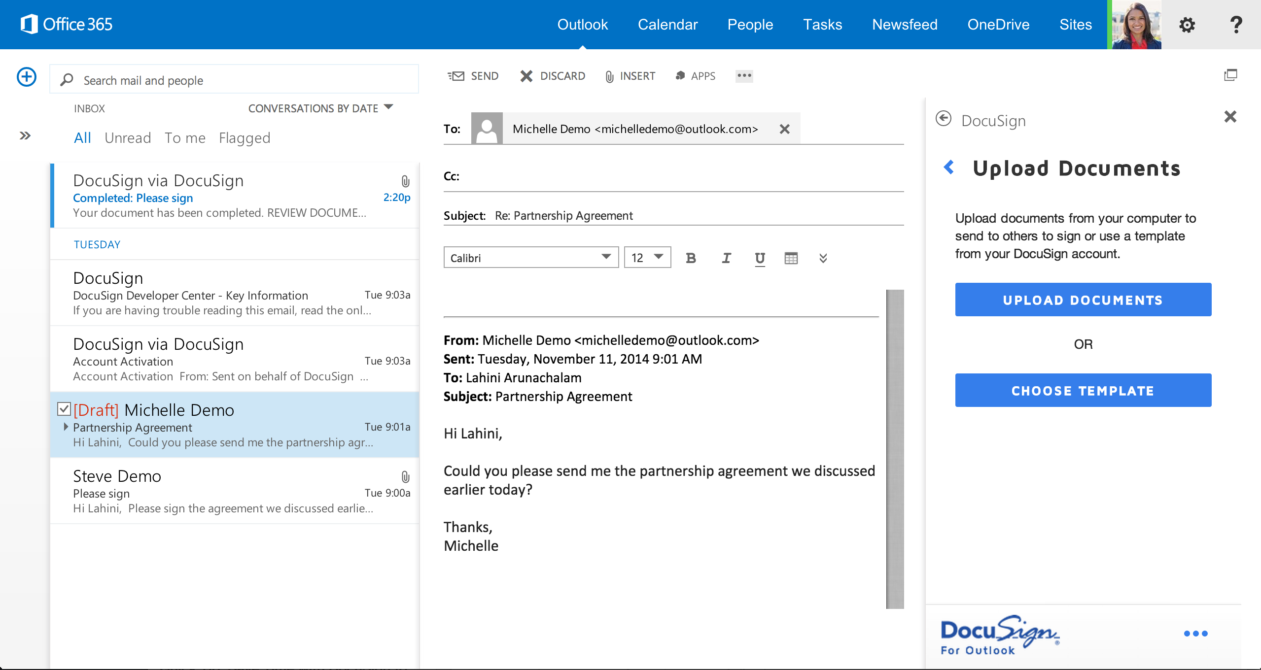 activation email template - docusign for outlook docusign