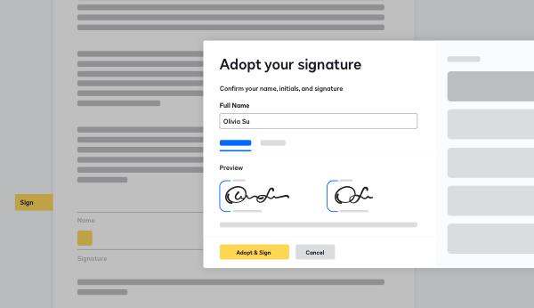 Screenshot of DocuSign eSignature