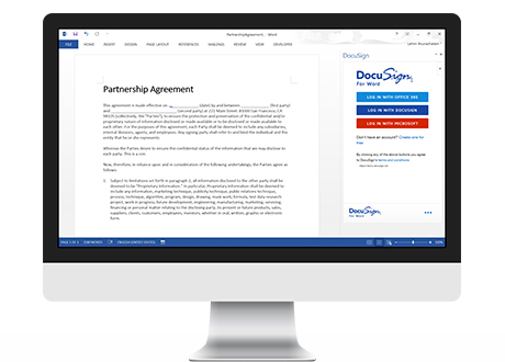 docusign for word docusign