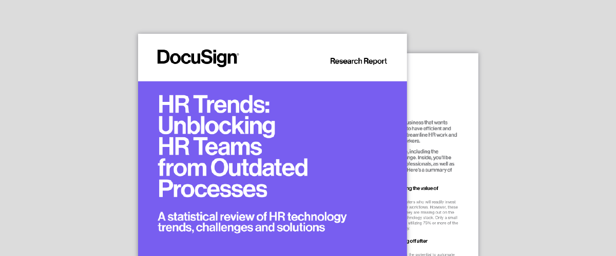 Image of HR Trends report.