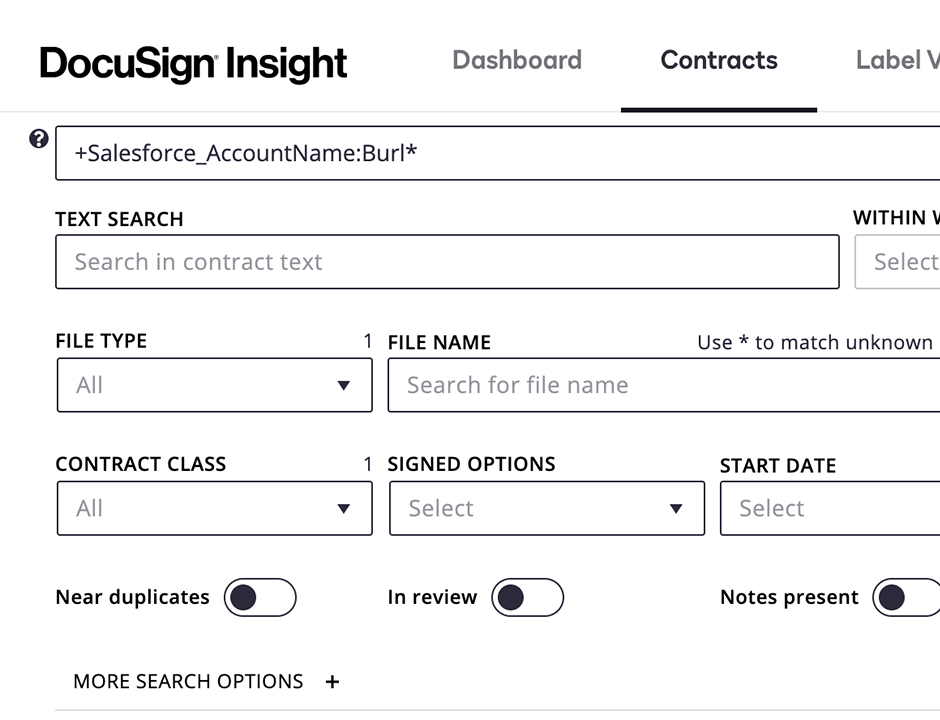 DocuSign Insight Connector for Salesforce.