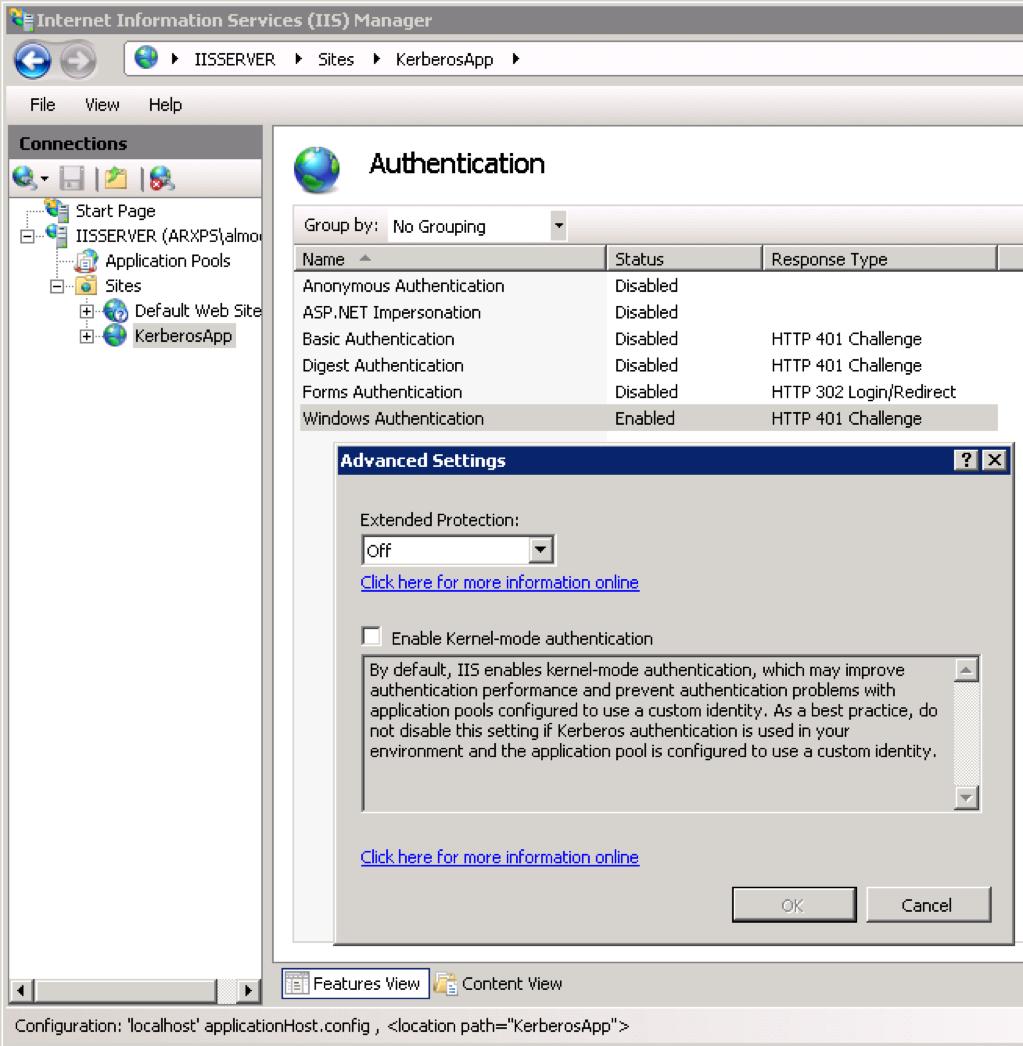 Local API: C# Kerberos Authentication