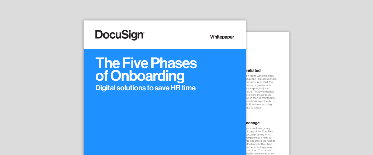 Five phases of onboarding cover