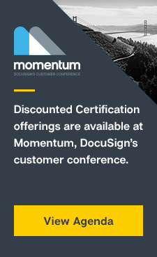 Discounted certification offerings at DocuSign's Momentum conference