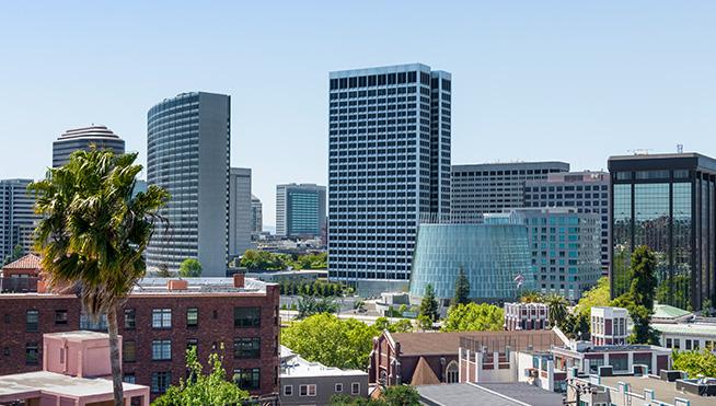 City skyline landscape.