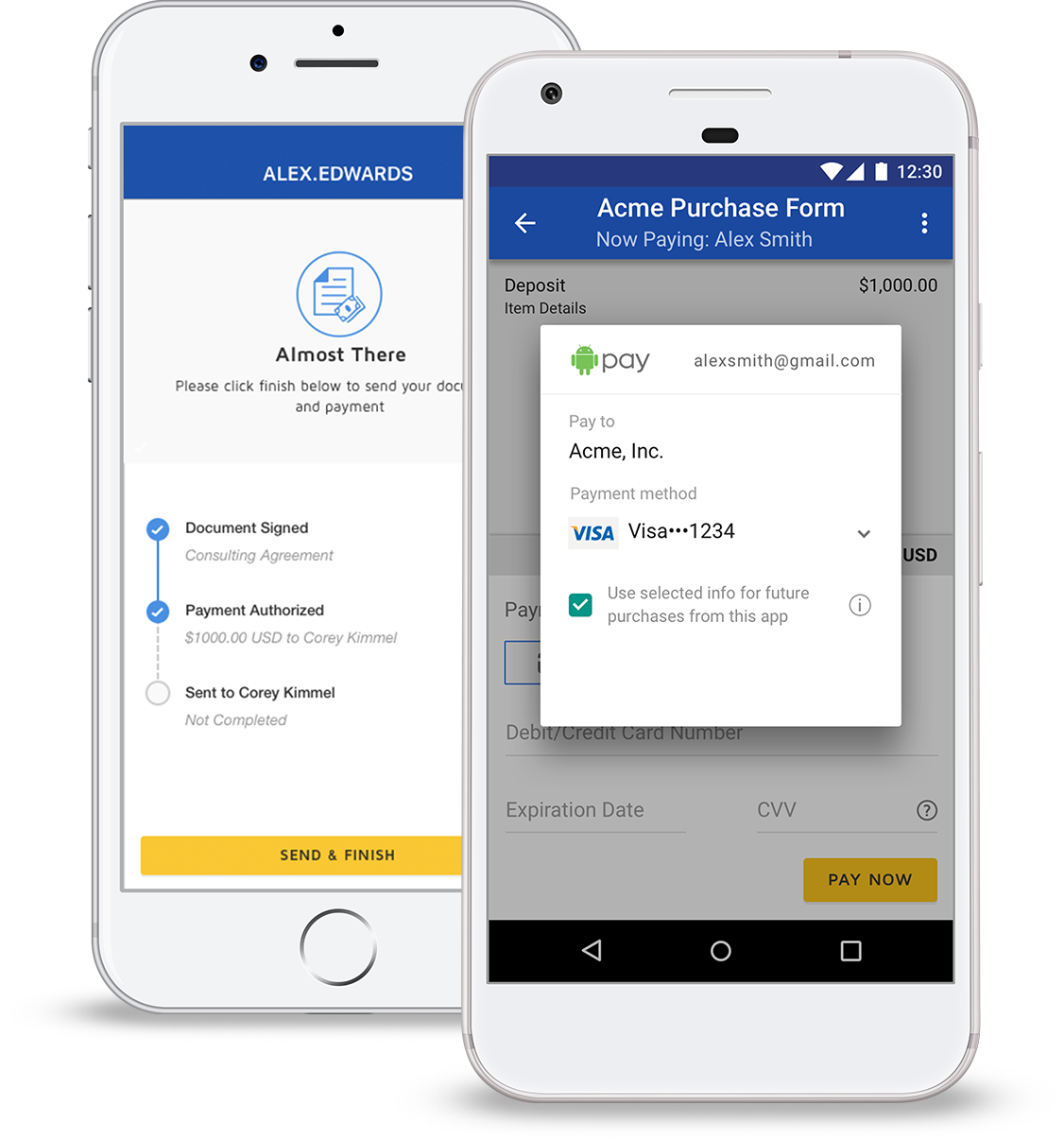 Request payments right from your smartphones and tablets