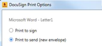 DocuSign Print Driver