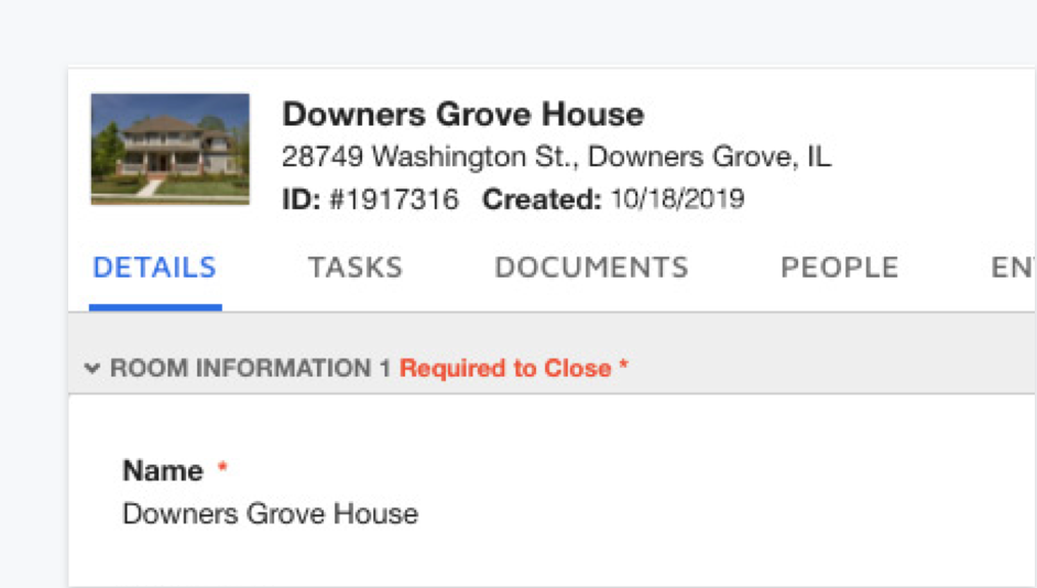 View all the information needed to close with DocuSign Rooms for Real Estate.