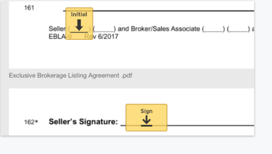 Integrated with eSignature, DocuSign Rooms for Real Estate makes signing easy.
