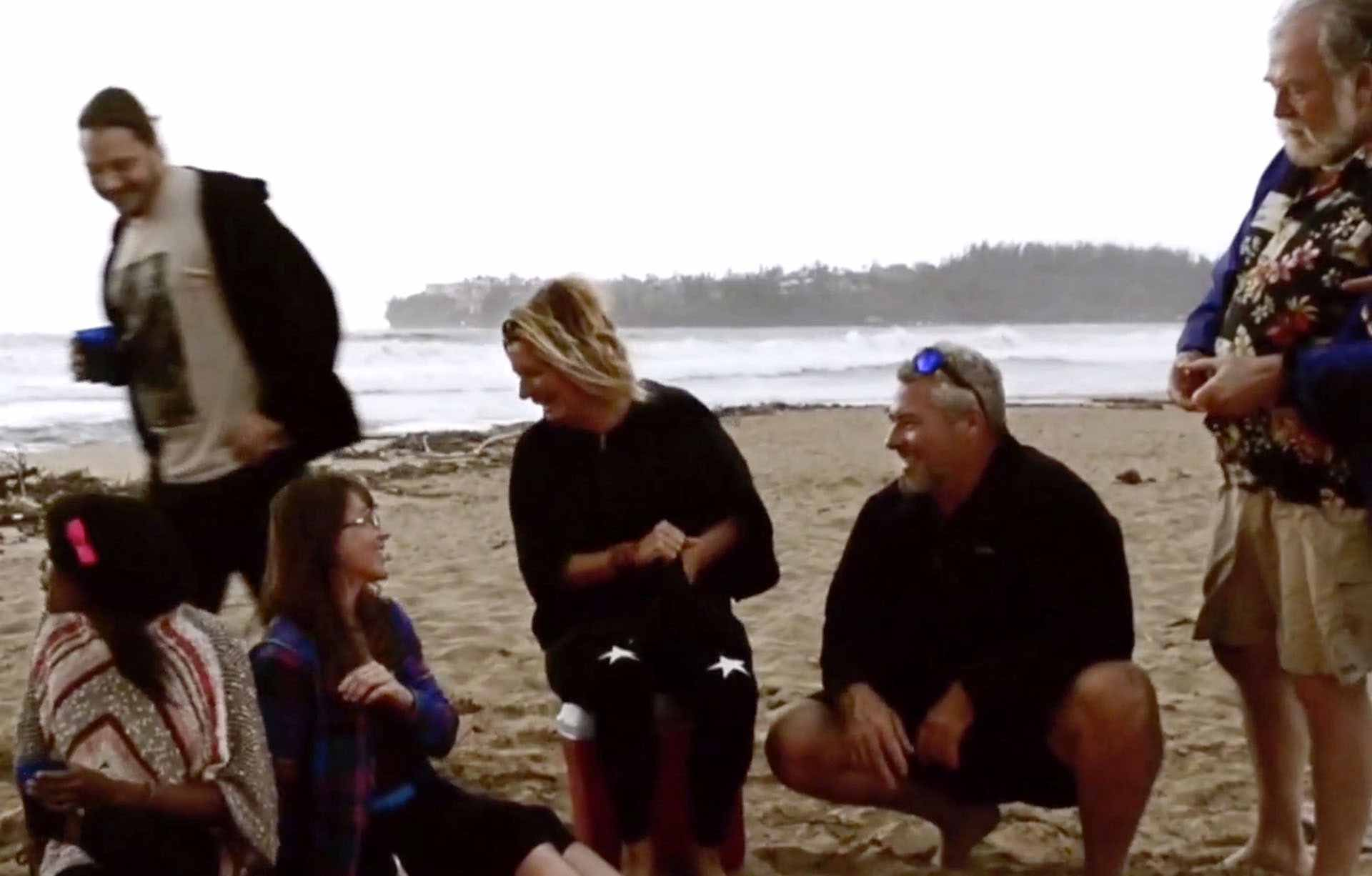 Kauai Nut Roasters owner at the beach