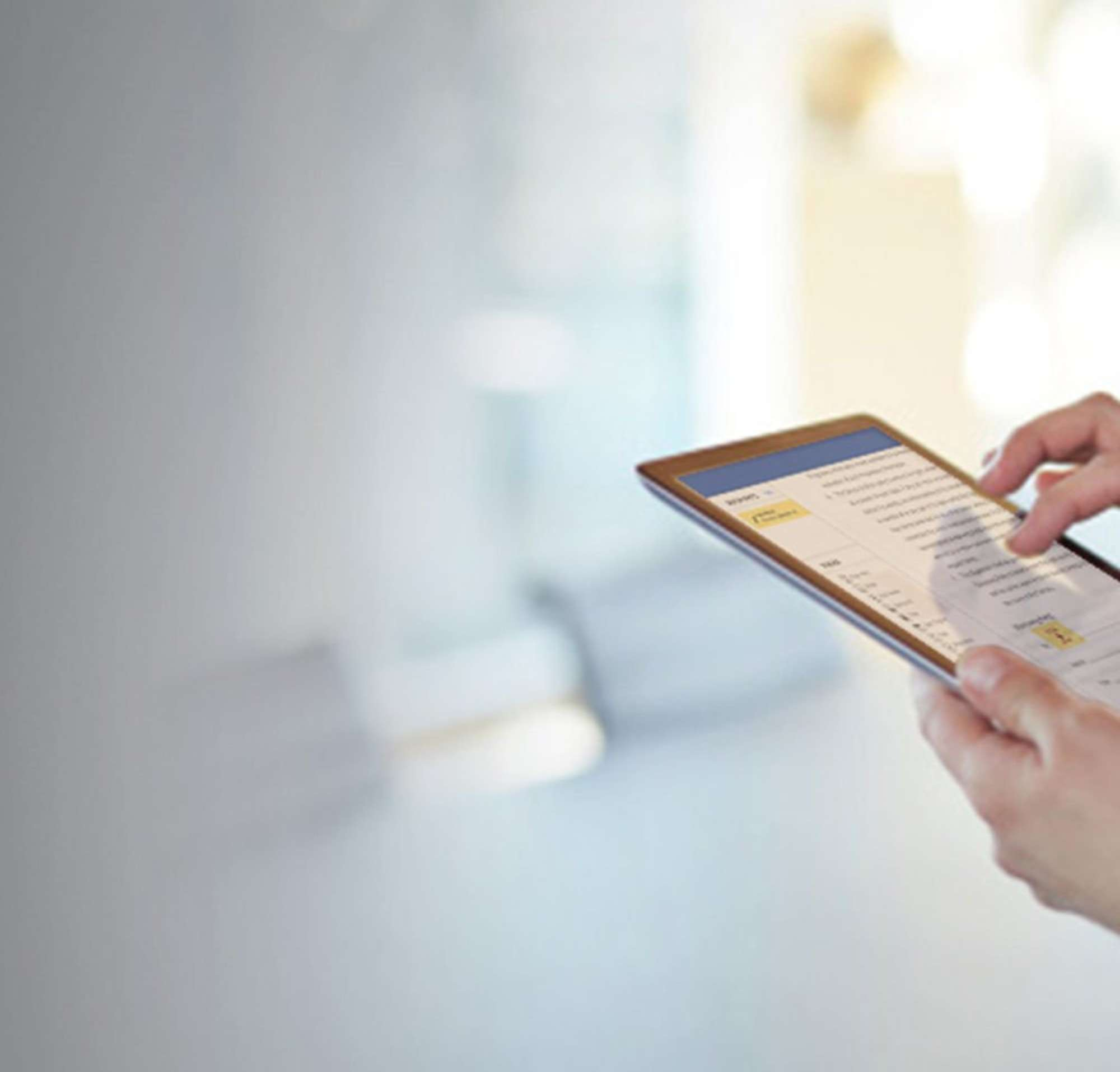 Electronically sign documents from an iPhone or iPad