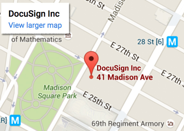 Contact docusign phone numbers locations for 11 madison avenue 12th floor new york ny 10010