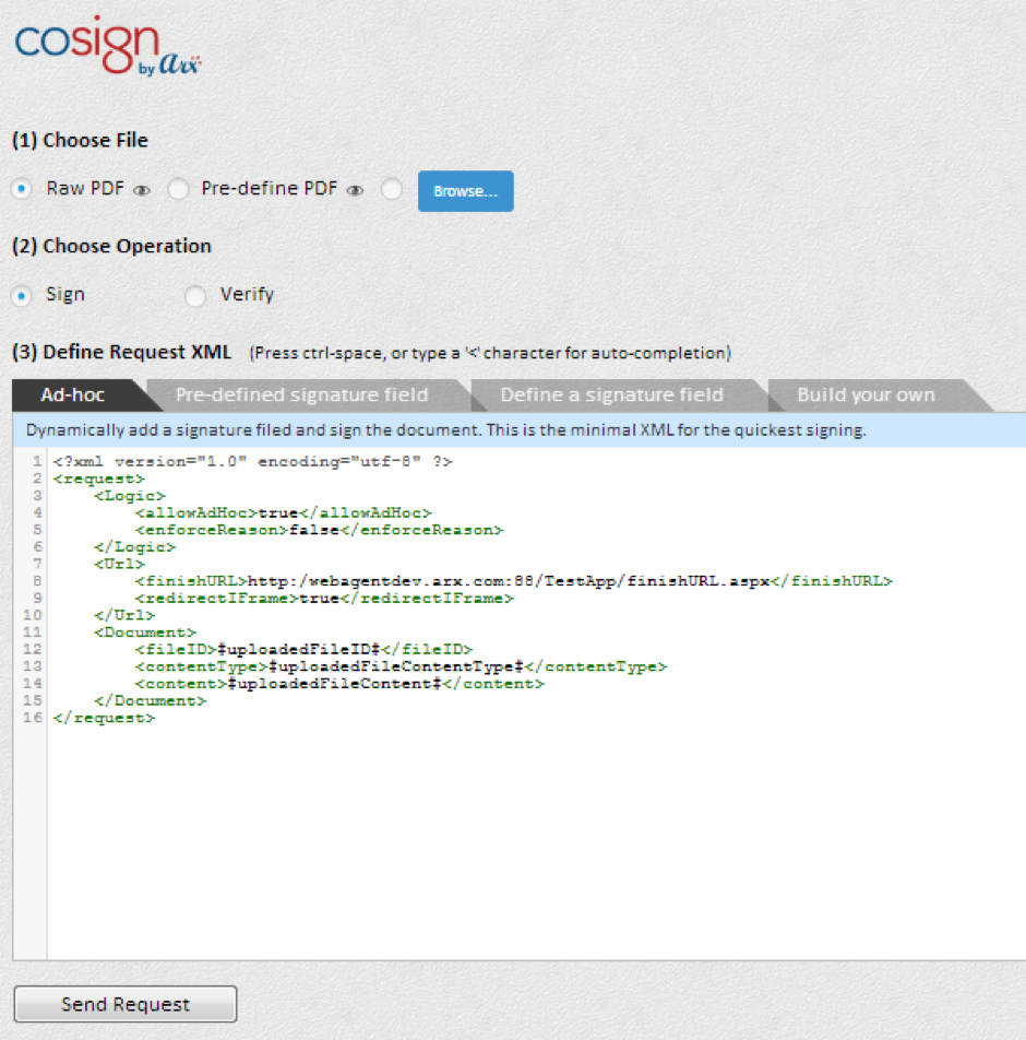 DSA Web Agent Test App