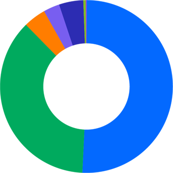 Pie chart showing race and ethnicity in technical job functions at DocuSign