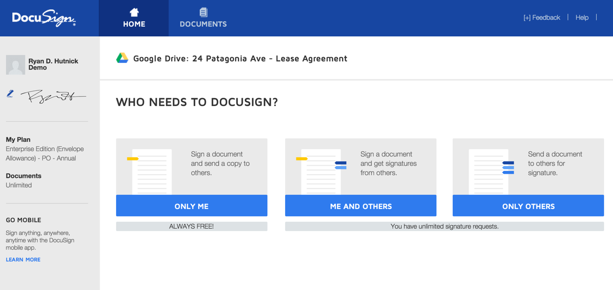 DocuSign for Google Drive | DocuSign
